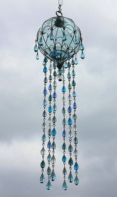 Trendy Ideas for diy dream catcher chandelier wind chimes Mobiles, Sea Glass, Glass Art, Glass Globe, Los Dreamcatchers, Antique Rare, Diy Wind Chimes, Glass Wind Chimes, Glass Chandelier