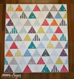 Triangle Quilt – How to Cut — Crafthubs