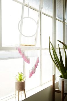 Two-Tone Tassel Wall Art