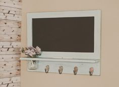 Country Cottage Chalkboard with Shelf and Mason Jar - Available with a Shabby Chic Distressed or Solid Finish Farmhouse Wall Decor, Country Farmhouse, Farmhouse Ideas, Country Living, Amish Furniture, Furniture Making, Farmhouse Furniture, Pallet Barn, Town And Country