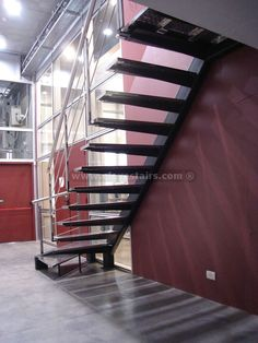 Open Staircase See deck railing ideas at http://awoodrailing.com