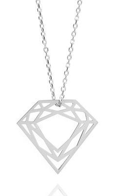 Silver Classic Diamond Necklace. #silver #contemporary #unique #London  #designer #jewellery  #NudeJewellery