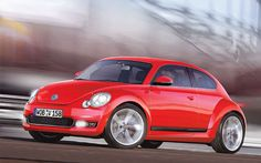 Volkswagen has launched the new generation Beetle in the Indian market and now the German auto giant plans to introduce the Beetle facelift in the country. Automotive Manufacturers, Wagon Cars, Little Red Wagon, Vw Vintage, Vw Beetles, Perfect Photo, Hot Wheels, Race Cars, Cool Cars