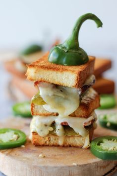 "Roasted jalapeño neatly tucked in a 2-tier sandwich loaded with applewood smoked bacon and jalapeño jack cheese! Have you heard about the Great Midwest ""I Love Grilled Cheese"" recipe contest yet? They're on the hunt for the best grilled cheese sandwich so everyone is encouraged to enter their best recipe using one or more Great Midwest cheese. Best of all, you'll …"