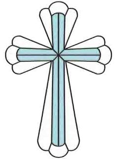 Stained Glass Cross | Rose - Wallpaper & Border | Wallpaper-inc.com