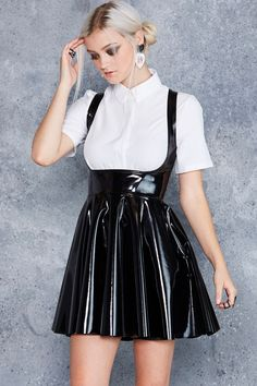Show Us Ya Tops PVC Underbust Dress ($120AUD) by BlackMilk Clothing