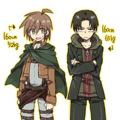 Naegi Makoto and Levi