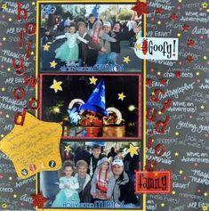 Disney scrapbook layout, goofy