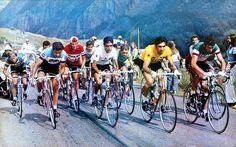 1972 14/7 rit 12 Orcières-Merlette > (vooraan vlnr) Raymond Poulidor, Jesús Luis Ocaña Pernía, Eddy Merckx, Felice Gimondi. De rit zal worden gewonnen door Lucien Van Impe (niet op de foto)