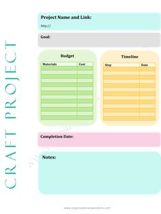 Pinterest Craft Project Planner