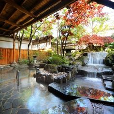Need Japanese Garden Ideas? A lot of people have taken an interest in Japanese gardening, in recent times. Like any other pastime, gardening is a hobby that is enjoyed more when you have received the proper infor Aomori, Japanese Bath, Japanese House, Japanese Hot Springs, Japanese Garden Design, Japan Travel, Backyard Landscaping, Architecture Design, Outdoor Living