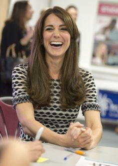 The Duchess beamed as she met with young people who have overcome mental health issues at an event in Harrow today
