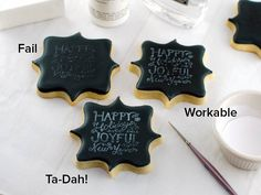 Semi Sweet Mike, Stamping Chalkboard Cookies