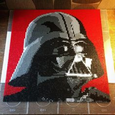 Star Wars: Darth Vader perler art by annematilda (Design by  durpface0)