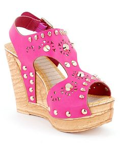 Take a look at this Fuchsia Eden-02 Wedge by Cape Robbin Collection on #zulily today!