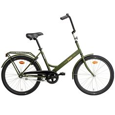 Army green Jopo bicycle by Helkama.