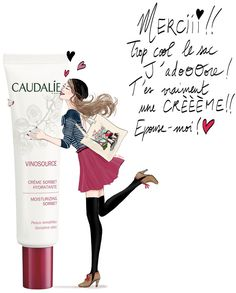 Illustrator Cecile Mancion for Caudalie!