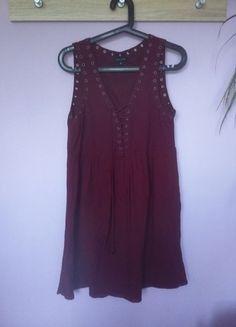 Kup mój przedmiot na #vintedpl http://www.vinted.pl/damska-odziez/krotkie-sukienki/14005977-bordowa-sukienka-new-look-40-l-wiazania-wiazana