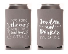 Soul Mate Wedding Favors Wedding Favors Song of Solomon Wedding Favors Gifts and Mementos Biblical Verse Gift Wedding Can Coolers 1318 by SipHipHooray