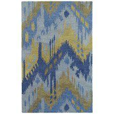 Allendale Hand-Tufted Blue/Camel Area Rug