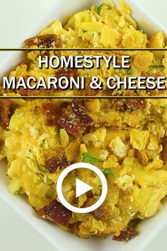 Homestyle Baked Macaroni and Cheese Homestyle Baked Macaroni and Cheese Snackable Studios snackable Best Recipe Videos Video Pins Homestyle Macaroni 038 Cheese by Recipe nbsp hellip And Cheese videos Easy Homemade Macaroni And Cheese Recipe, Mac And Cheese Recipe Soul Food, Baked Mac And Cheese Recipe, Best Macaroni And Cheese, Easy Mac And Cheese, Macaroni Cheese Recipes, Baked Macaroni, Baked Cheese, Mac Cheese