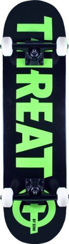 Threat Standard Complete (Black/Green, 7.75) by Threat. $76.95. This Threat Standard Complete - 7.75 Black/Green complete skateboard is 7.75 inches wide