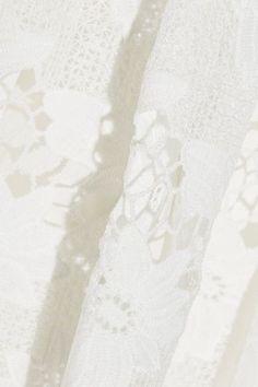 Alice Olivia - Karen Lace Mini Dress - Off-white - US10