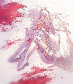 Manga Girl, Anime Girls, Beautiful Anime Girl, White Hair, Sadness, Anime Characters, Frost, Anime Art, Character Design