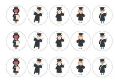 Printed edible toppers, perfect for Graduation cakes for young children - ideal for nursery or primary school. Can be used as cupcake toppers, cake toppers, cocktail toppers, pie toppers and dessert and icecream decorations. Order today before 10am and qualify for next day delivery. Buy now!