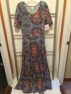 NWT LulaRoe Ana Dress, Mulit-Color Geo Paisley Print, L #Unbranded #Maxi