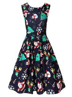 1b58dae9ea9f3 Maternity Fashion - beautiful maternity dresses   DREAGAL Womens Snowman  Christmas Tree Sleeveless Party Vintage Cocktail