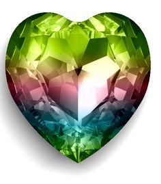Rainbow Heart Crystal - by Swarovski Crystallized™ I Love Heart, Happy Heart, Peace And Love, Swarovski Crystal Figurines, Swarovski Crystals, Rainbow Heart, Heart Art, Rocks And Minerals, Rainbow Colors