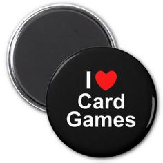 I Love Heart Card Games Magnet - love gifts cyo personalize diy