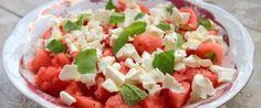 Insalata di anguria e mozzarella