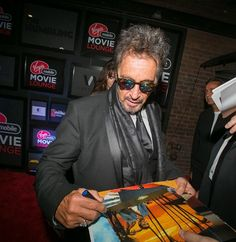 First day at the Virgin Mobile Movie Lounge and we got to hang out with the one and only Al Pacino!