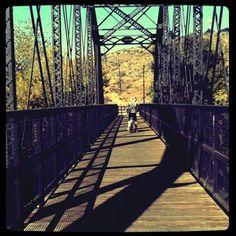 bridge bike ride in summer