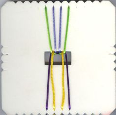 Kumihimo Tutorial - Flat braid using satin cord / rat tail cord