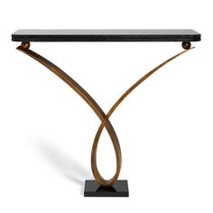 Villiers - Byron 02 Console Table - Antique Gold