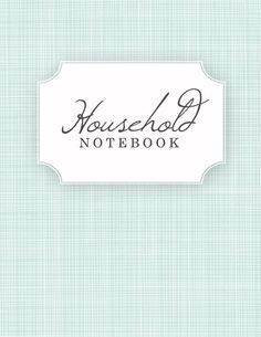 Household Notebook Cover Page
