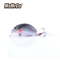 MSMRCO Top 10 Color 6CM 9.6G Crank Feather Hook Carp Fishing Lures 3D Eyes Bionic Artificial Hard Bait Wobblers Fishing Tackle #Affiliate