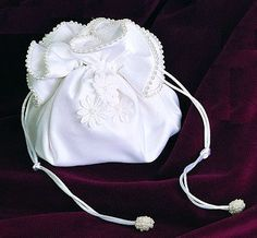 Daisy Bridal Purse with Drawstring Closure $26.95