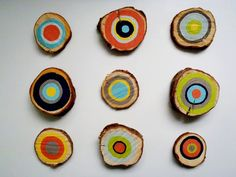 Colourful tree rings. Really easy!