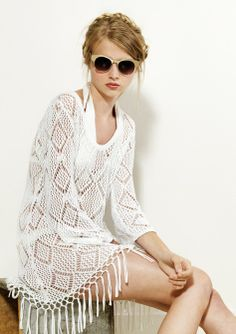 cute cover-up, lace, crochet, white, resort Minimal Fashion, Simple Outfits, Spring 2014, Wardrobes, Capsule Wardrobe, Personal Style, Cashmere, Cover Up, Feminine
