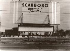 Scarboro drive-in theatre was located on the east side of Kennedy Road at Ranstone Gardens (south of Lawrence Avenue East) Toronto. Scarborough Toronto, Scarborough Bluffs, Toronto Ontario Canada, Toronto City, Canadian History, Local History, Toronto Photos, Drive In Theater, North York