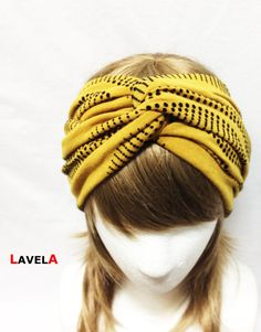 Mustard Wave spots Twist Turban :) I'd love to have this but I think my hair is too short.