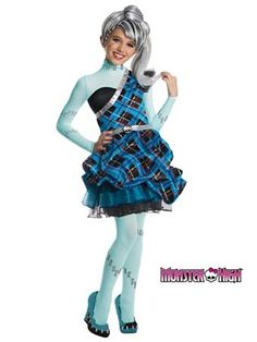 Girl's Monster High Frankie Stein Sweet 1600 Deluxe Costume