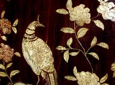 A detail of one of Coco Chanel's Chinese coromandel lacquer screens.