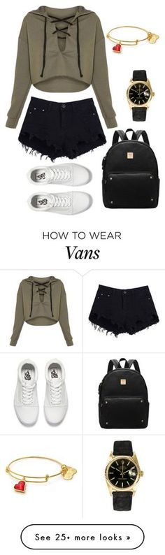 """Freshman year"" by wanderlustpan on Polyvore featuring Vans and Rolex"