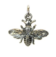 Bee Charm Silver Character Charm