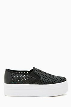 JC Play by Jeffrey Campbell WTF Platform Sneaker - Black Star.